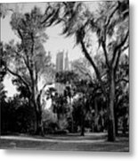 Ghostly Bok Tower Metal Print