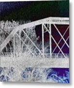 Ghostly Bridge Metal Print