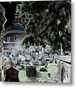 Ghostly Cemetary Metal Print