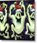 Ghostly Christmas Trio Metal Print