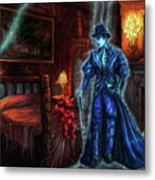 Ghostly Gentleman Visits A Friend Metal Print