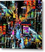 Ghostly Shopping Center Metal Print