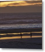 Ghostly Sunset Walk Metal Print