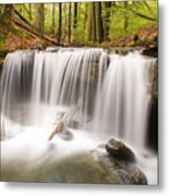 Ghostly Waterfall Metal Print