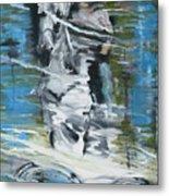 Ghostrider Reflection Metal Print