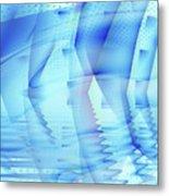 Ghosts In The Pool Metal Print