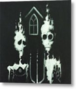 Ghosts Of American Gothic Metal Print