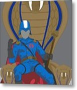 Gi Joe - Cobra Commander Metal Print