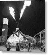 Giant Flamethrowing Praying Mantis Metal Print
