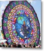 Giant Kite Mayan Women Metal Print