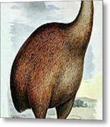 Giant Moa Dinornis Ingens, Cenozoic Bird Metal Print