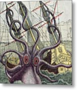 Giant Octopus Metal Print