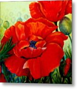 Giant Poppies 3 Metal Print