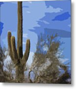 Giant Saguaro Metal Print
