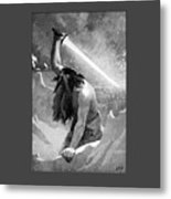 Giant With A Flaming Sword Metal Print