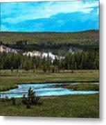 Gibbon River Valley Metal Print