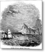 Gibraltar, 1843 Metal Print