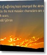 Gibran On The Character Of The Soul Metal Print
