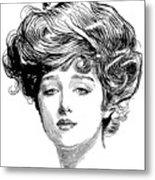 Gibson Girl, 1900 Metal Print