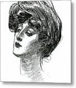 Gibson Girl 1902 Metal Print