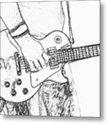 Gibson Les Paul Guitar Sketch Metal Print