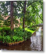 Giethoorn Greenery And Bridges. Venice Of The North Metal Print