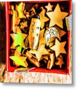 Gift Boxes And Astronomy Toys Metal Print