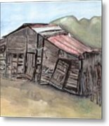 Gila New Mexico Cattle Barn Metal Print