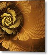Gilded Flower Metal Print by John Edwards