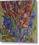 Gilded Flowers Metal Print