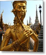 Gilded Statue Of A God At The Grand Metal Print