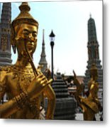 Gilded Statues Of Gods At The Grand Metal Print