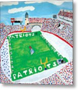 Gillette Stadium Metal Print