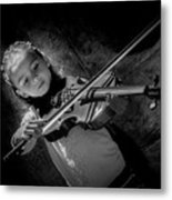 Gilrs And  Music Metal Print