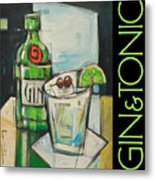 Gin And Tonic Poster Metal Print