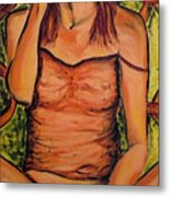 Gina The Smoking Woman Metal Print