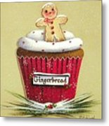 Gingerbread Cookie Cupcake Metal Print