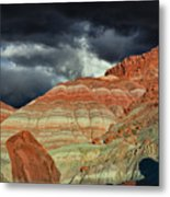 Gingham Skirts Butte  Metal Print