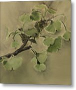 Gingko Branch Metal Print