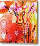 Giraffe Delightful Deborah Metal Print
