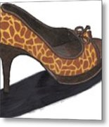 Giraffe Heels Metal Print