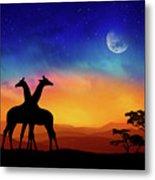 Giraffes Can Dance Metal Print