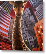 Giraffes Often Starve In Babylon Metal Print