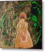 Girl And A Beanstalk  Metal Print