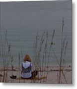 Girl At Beach Metal Print