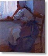 Girl At The Window 1885 Metal Print