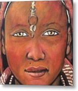 Girl From Africa Metal Print