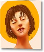 Girl From The Sun Metal Print