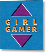 Girl Gamer Metal Print
