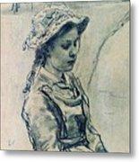 Girl Hell 1882 Ilya Repin Metal Print